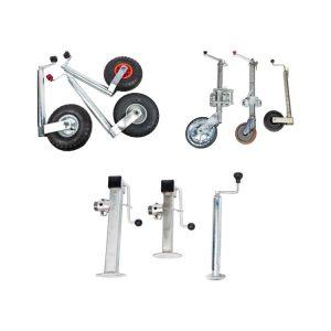 Jockey Wheels, Propstands, Jacks & Clamps